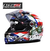LS2 FF396 Motorcycle Helmet Dual Lens Fiberglass Motorcycle SUVs Security Full Face Helmet Running Helmets Men