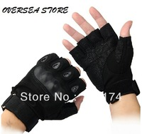 Free shipping! Military gloves tactical gloves hiking climbing half finger oxford gloves brand top quality