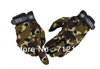 Free shipping, Brand New Outdoor Full finger Military Tactical Airsoft Hunting Riding Cycling bike glove,Camping Gloves men