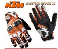 Free shipping! genuine KTM racetech leather motorbike gloves motorcycle gloves motorcross racing glovesATV off road top brand