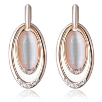 2013 New Earrings Women Jewelry Earrings Cat Eye Charm Gold Plating Wholesale Free Shipping