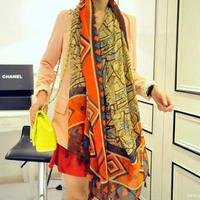 Geometric Scarf Bohemian ethnic style cotton long scarf Freeshipping