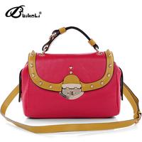 Women's handbag 2013 spring and summer genuine leather fashion handbag messenger bag 13763
