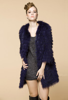 2013 Moden Fashion Natural Racoon Fur Coat Women Winter Warrm Coats New Style Outwear For woman Free shipping