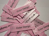 clothing labels and tags/garment large size/ customize wave lables 100pcs/lot