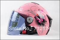 Motorcycle women helmet Summer Helmet electric car UV sunscreen motorbike half helmet men and women