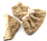 Fashion Supersoft plush dog Dress winter Clothes Apricot