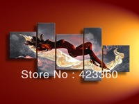 100% Hand painted  Huge Realistic Painting Beautiful Hot Naked Girl Body Women Nude sexy Group oil Painting on Canvas Wall Art
