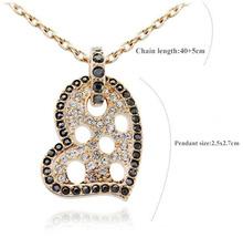 New Arrival Rhinestone Hearts Necklace Fashion Jewlery Ornamentation For Women 2013 Free Shipping