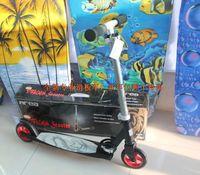 Child teenage aluminum shock absorption folding scooter wheel pedal block