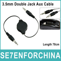 3FT 3.5mm Plug Male to Male M/M Retractable Jack Audio Stereo Aux Spring Cable 1M for MP3 Speaker Media