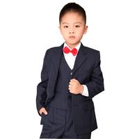 2013 new fashion five pcs( jacket ,pant ,vest, tie ,bow) pinstripe boy formal suit