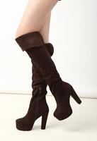 Fashion platform 2013 women's ultra high heels thick heel over-the-knee 25pt high-leg boots