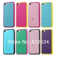 50pcs/lot Free Shipping double colors cover soft silicone cover case for iphone 5c