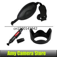 3in1 Lens pen Lens Cleaning Pen +52mm Lens Hood for D3100 D5100 D5200 D3200 18-55mm+ Hand Grip Strap