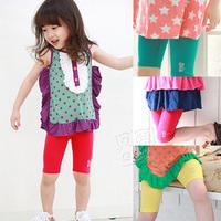 2013 summer rhinestones cat girls clothing baby child 5 kz-2005 legging