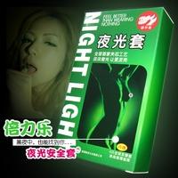 FreeShipping 7pcs/lot(3pcs glow+4pcs not glow) glow condom glow in the dark condom luminous condom lamp sexy adult sex products