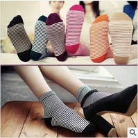 Direct Manufacturer NEW ARRIVAL cotton women socks fashion candy color striped socks 10pairs/lot Free shipping