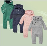 New 2013 fashion brand Autumn minnie baby lovely soft cotton baby hoodies Romper jumpsuit  4 colors