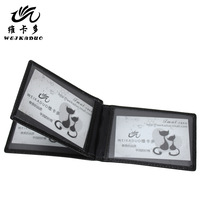 Vicat personalized driver's license driving license genuine leather drivers license testificate set license clip