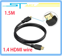 1.5M HDMI To HDMI Gold Cable Cord Wire For HDTV Sky HD PS3 XBOX Computer CD player TV Free Shipping wholesale 2013 Brand New