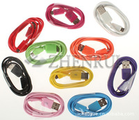 Free shipping Colorful 1M Long Micro USB Data Sync Cable for Samsung Galaxy S2 S3 S4 for HTC