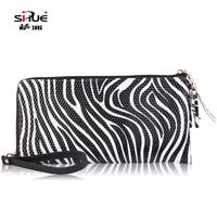 New arrival women's handbag zebra print clutch bag 2013 female large size day clutch female clutch female multi-layer