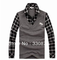 Free Shipping 2013 Fashion Winter Warm Coat Men Sweater Full O-Neck Computer Knitted Casual Popular Outwear
