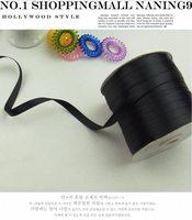 wholesale 20 meters mix size(10mm+5mm) (3/8''+3/16'') black grosgrain ribbon hair bands diy bow -M3