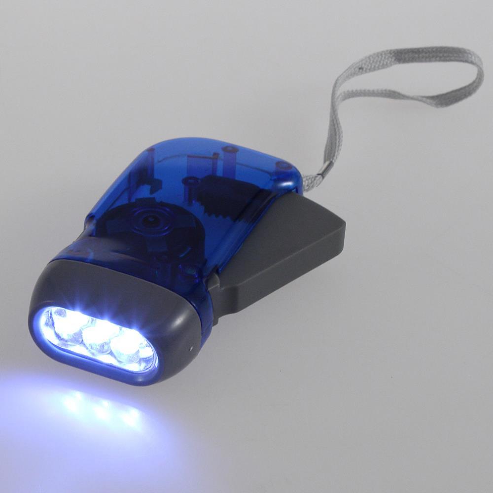 1pcs 3 color 3 LED Dynamo Wind Up Flashlight Torch Light Hand Press Crank NR Camping DropShipping(China (Mainland))