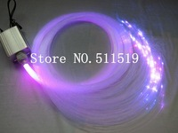 free shipping 1.0 mm fiber  optic star ceiling kit , 200 pcs   plastic fiber 2m long  +5W RGB light engine with  24key IR remote