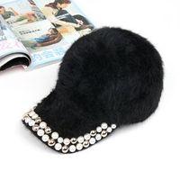 Winter hat female women's baseball cap rabbit fur hat child hat cap
