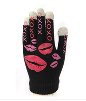 Wholesale hot-selling glue toe lipstick touch screen mobile phone gloves startlingly touch gloves  fee shipping