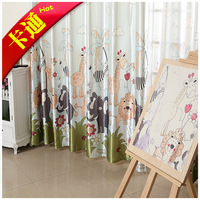 Free shipping rome Child curtain cartoon child girl boy real curtains with flowers blind to the bathroom