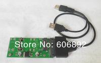 """Free Shopping 50mm mSATA mini SATA SSD to 2.5"""" 7+15Pin SATA Converter Adapter mSATA-SATA Card with USb to Sata Cable"""