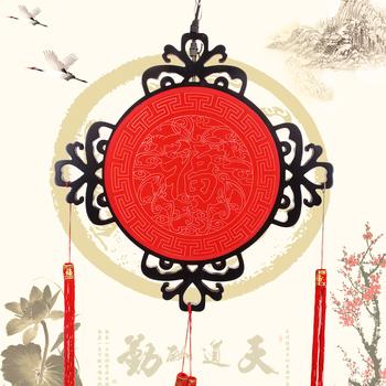 Chinese style classical sheepskin lantern antique large mahogany lanterns decoration pendant light large