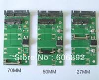 "10pcs/lot 70mm mSATA mini SATA SSD to 2.5"" 7+15Pin SATA Converter Adapter mSATA-SATA Card"