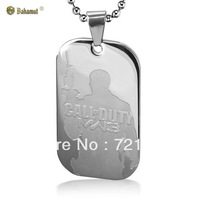 2013 new Titanium Steel jewelry Call of Duty Modern Warfare military license Pendant Fashion Necklace For Men Free Shipping