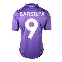 HOT 13/14 Fiorentina home #9 BATISTUTA Jerseys Purple Shirt Soccer Unforms 2013-14 Cheap Soccer Jersey free shipping