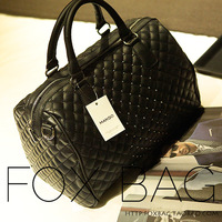 Women's bags 2013 women's fashion handbag fashion plaid mango BOSS bucket bag handbag
