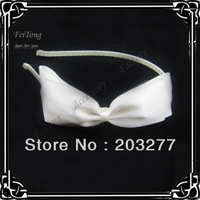 Free shipping!! Wholesale 12pcs/lot  Satin ribbon bow hair band for women   hair accessory