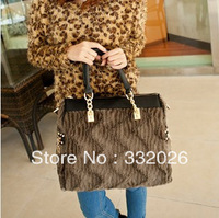 Free Shipping2013 autumn and winter fashion fur bag vintage bag laptop messenger bag