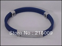 100pcs DHL Free Shipping Energy Power Silicone Tourmaline & Titanium,Germanium Powder,Stainless steel Wristband Bracelets