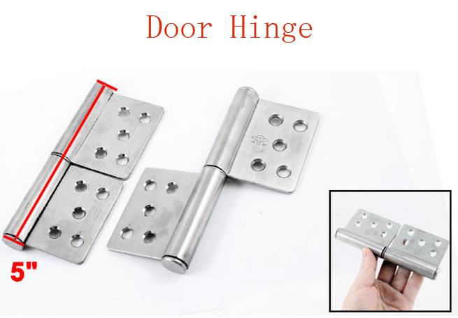 7mm Dia Installing Hole Metal Cabinet Drawer Butt Door Hinge 2pcs(China (Mainland))