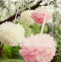 Free Shipping 10 Inch (25cm) 10pcs/Lot Multicolour Peony Paper Flower Balls Wedding Shower Decorations Wedding Decoration