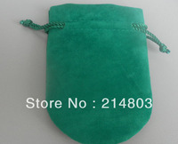 7*9cm green color fabric velvet jewelry bag with custom logo free shipping MOQ 100pcs