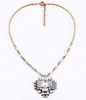 free shipping 2013  new design fashion vintage cross crystal pendant necklace length 54cm