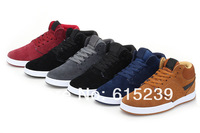 Free shipping,2013 new men's high top wool nubuck leather outdoor winter boots 6.0 sneakers cotton-padded shoes colorful,40-44