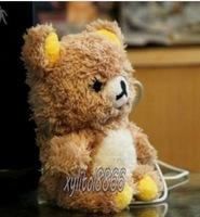 Free shipping ,Free shipping 3D Cute Teddy Bear Design Cool Plush Toy Doll Cover Case For Samsung Galaxy note 2 N7100