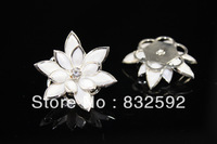 Freeshipping!20PCs/24mm White Silver Plated Horse Eye Flower Rhinestone Embellishment Findings/Connectors Fit Jewelry DIY,B0021#